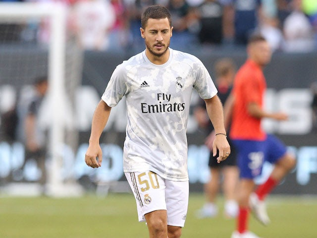 Eden Hazard in action for Real Madrid on July 26, 2019