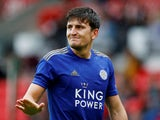 Harry Maguire in action for Leicester City on July 27, 2019