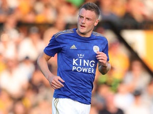 Jamie Vardy in action for Leicester City on July 23, 2019