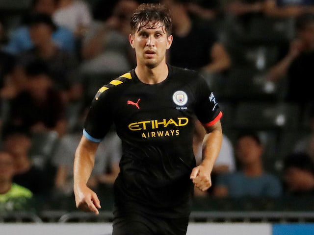 John Stones in action for Manchester City on July 27, 2019