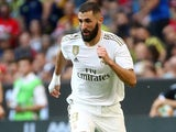 Karim Benzema in action for Real Madrid on July 30, 2019