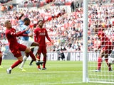 Raheem Sterling gives Manchester City the lead against Liverpool in the Community Shield on August 4, 2019.