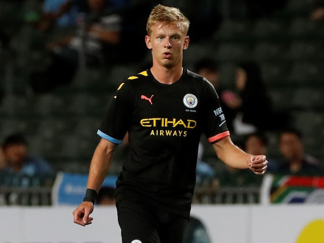 Oleksandr Zinchenko in action for Manchester City on July 27, 2019