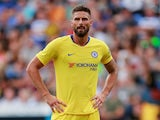Olivier Giroud in action for Chelsea on July 28, 2019