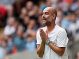 Pep Guardiola pictured during the Community Shield final against Liverpool on August 4, 2019