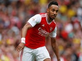 Pierre-Emerick Aubameyang in action for Arsenal on July 28, 2019