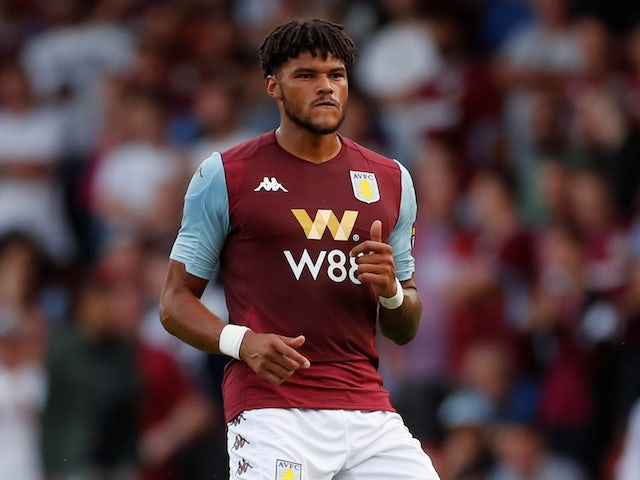 Tyrone Mings in action for Aston Villa on July 24, 2019