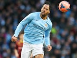 Joleon Lescott in action for Manchester City in January 2014