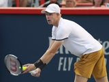 Kyle Edmund in action at the Rogers Cup on August 6, 2019