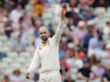Australia's Nathan Lyon celebrates taking the wicket of England's Moeen Ali on August 5, 2019