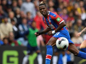Wilfried Zaha in action for Crystal Palace on August 10, 2019