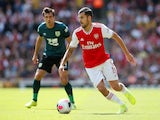 Arsenal's Dani Ceballos in action with Burnley's Jack Cork in the Premier League on August 17, 2019