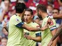 Bournemouth's Harry Wilson celebrates scoring their second goal with team mates on August 17, 2019