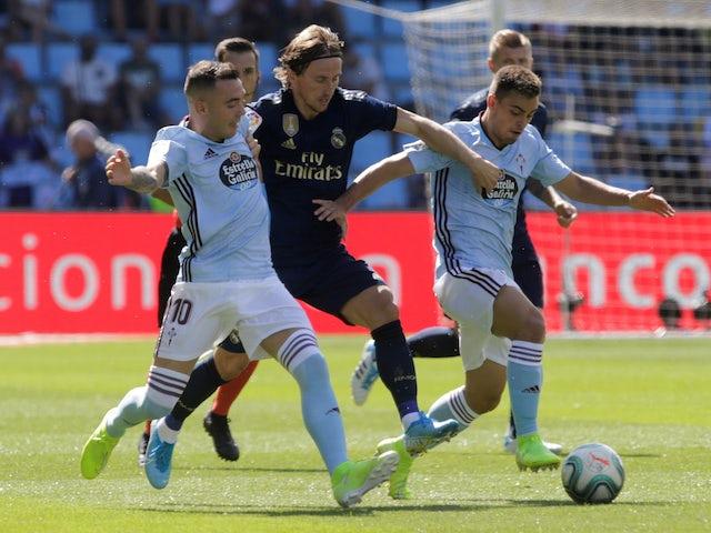 Real Madrid's Luka Modric in action against Celta Vigo in La Liga on August 17, 2019