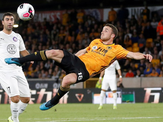 Diogo Jota scores a stunner for Wolves on August 15, 2019