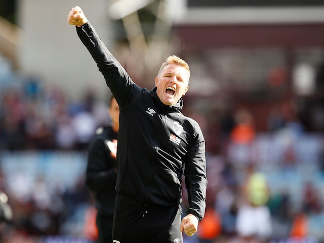 Bournemouth manager Eddie Howe celebrates victory on August 17, 2019