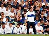 Chelsea manager Frank Lampard reacts during his side's Premier League match with Leicester on August 18, 2019