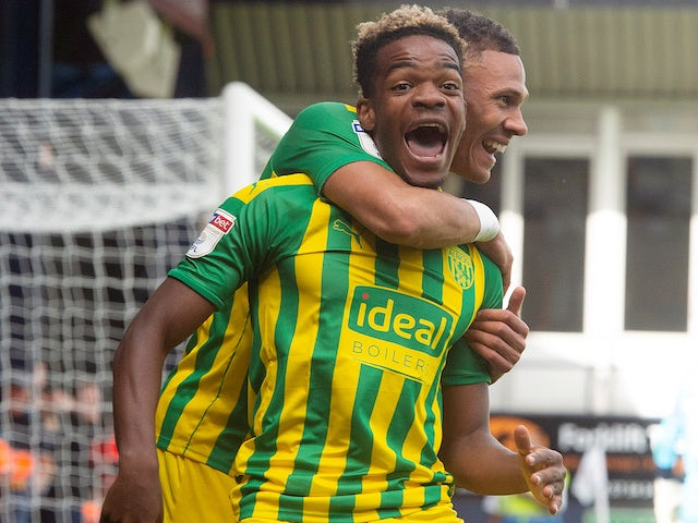 Grady Diangana celebrates scoring for West Bromwich Albion on August 17, 2019