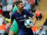 Jorginho in action for Chelsea on August 14, 2019