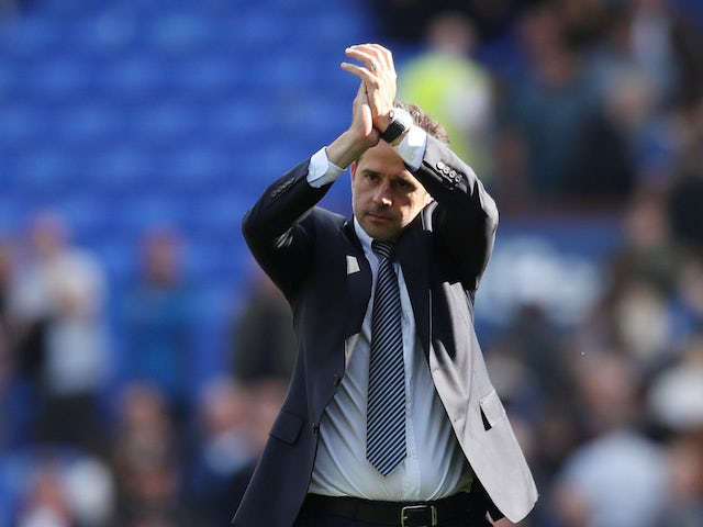 Everton boss Marco Silva applauds on August 17, 2019