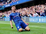Chelsea's Mason Mount celebrates scoring their first goal against Leicester on August 18, 2019