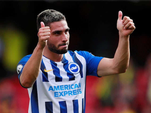 Neal Maupay in action for Brighton on August 10, 2019