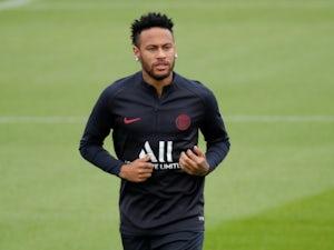 Neymar takes part in a Paris Saint-Germain training session in August 2019