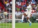 Real Madrid's Rodrygo Goes in pre-season action against Tottenham Hotspur on July 30, 2019