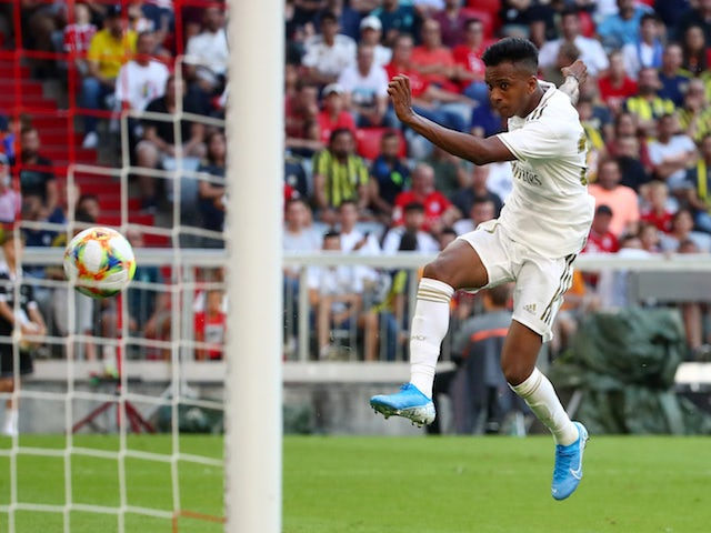Real Madrid's Rodrygo Goes in pre-season action against Tottenham Hotspur on July 30, 2019