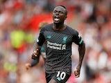 Liverpool's Sadio Mane celebrates scoring their first goal against Southampton on August 17, 2019
