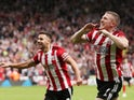Sheffield United's John Lundstram celebrates scoring their first goal on August 18, 2019