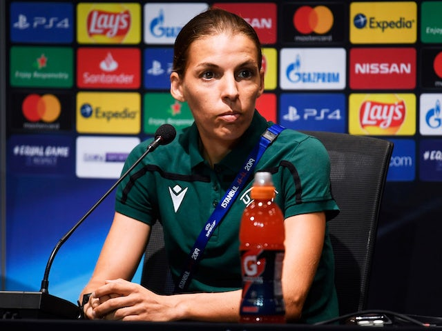 Female referee Frappart makes history by taking charge of men's Super Cup