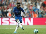 Tammy Abraham takes an unsuccessful penalty during the Super Cup final between Chelsea and Liverpool on August 14, 2019