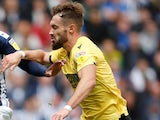 Tom Bradshaw in action for Millwall on August 10, 2019