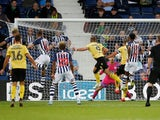 Tom Bradshaw scores for Millwall on August 13, 2019