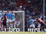 Bournemouth's Harry Wilson scores their first goal from a free kick on August 25, 2019