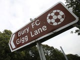 Street sign pointing to Gigg Lane, home of Bury