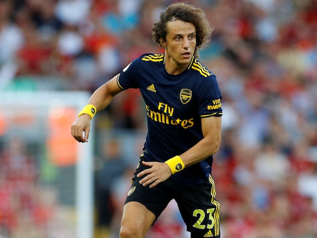 David Luiz in action during the Premier League game between Liverpool and Arsenal on August 24, 2019