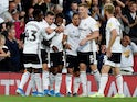 Fulham's Ivan Cavaleiro celebrates scoring their first goal on August 21, 2019