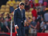 Watford manager Javi Gracia looks downbeat on August 24, 2019
