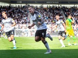 Martyn Waghorn celebrates scoring from the spot during the Championship game between Derby County and West Bromwich Albion on August 24, 2019