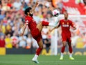 Mohamed Salah in action during the Premier League game between Liverpool and Arsenal on August 24, 2019