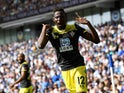Southampton's Moussa Djenepo celebrates scoring their first goal on August 24, 2019