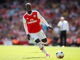 Arsenal's Nicolas Pepe in action on August 17, 2019