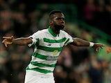Odsonne Edouard celebrates scoring for Celtic on August 22, 2019
