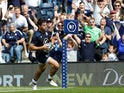 Scotland's Sean Maitland scores their first try on August 24, 2019