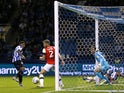 Sheffield Wednesday's Kadeem Harris scores their first goal on August 20, 2019