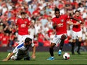 Manchester United's Marcus Rashford in action against Crystal Palace in the Premier League on August 24, 2019