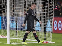 DC United forward Wayne Rooney (9) leaves the pitch after receiving a red card against the New York Red Bulls during the first half at Audi Field on August 21, 2019