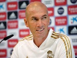 Zinedine Zidane pictured at a Real Madrid press conference on August 23, 2019